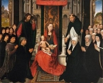 Hans Memling   Virgin and Child with Sts James and Dominic   WGA14952